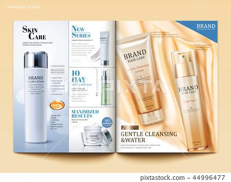 Cosmetic magazine template 44996477