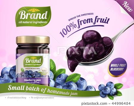 Blueberry jam ads 44996484