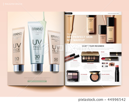 Cosmetic magazine template 44996542