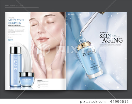 Cosmetic magazine template 44996612