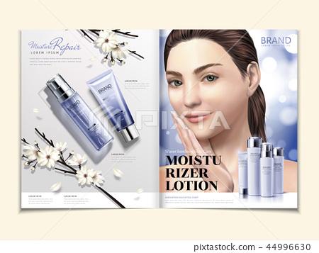 Cosmetic magazine template 44996630