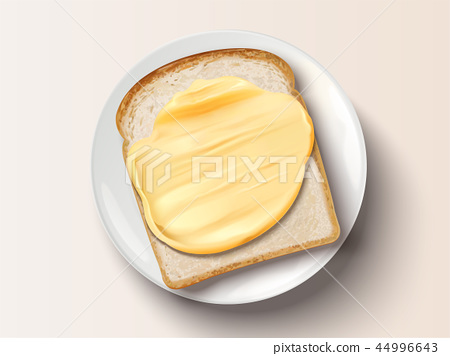 Butter spreading on bread 44996643