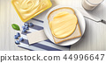 Butter spreading on bread 44996647