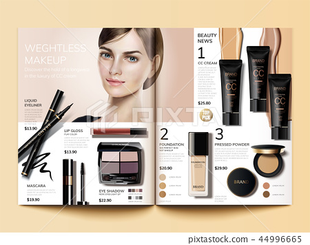 Cosmetic magazine template 44996665