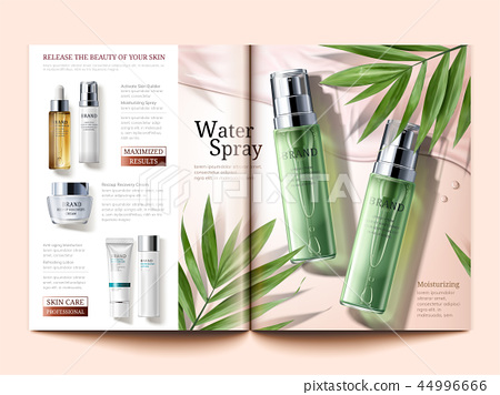 Cosmetic magazine template 44996666