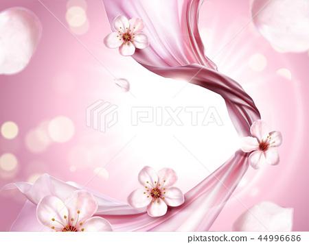 Pink chiffon elements 44996686
