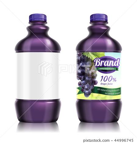 Grape bottled juice package 44996745