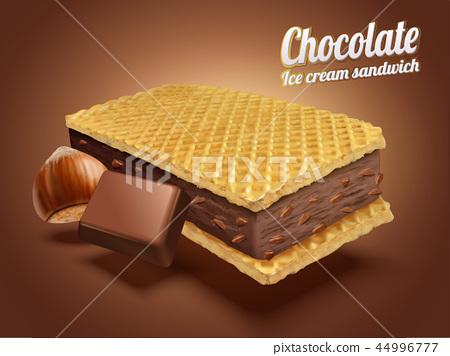 Chocolate ice cream sandwich 44996777