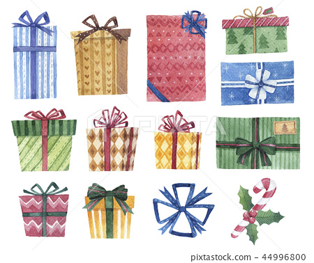 Set of watercolor gifts design 44996800