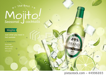 Mojito seasonal cocktails ads 44996893