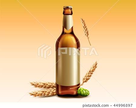 Blank beer glass bottle 44996897