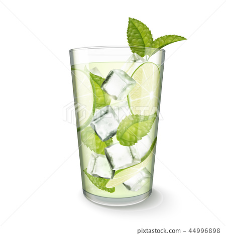 Mojito drink in glass cup 44996898