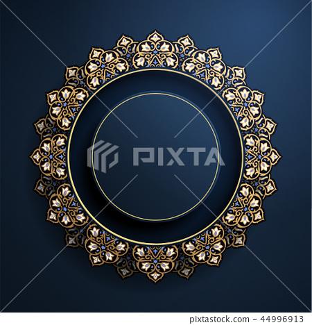 Gorgeous round arabesque frame 44996913
