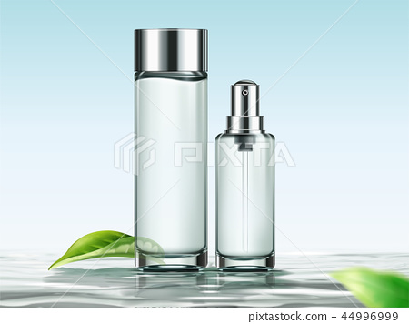 Blank skincare bottles 44996999
