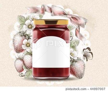 Elegant strawberry jam ads 44997007
