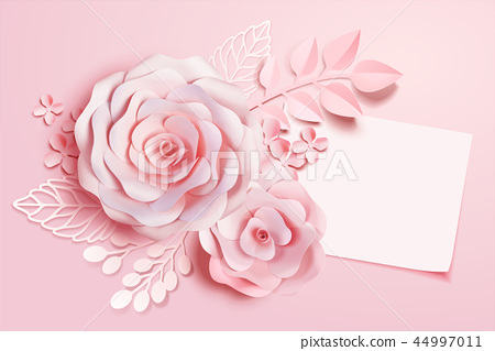Elegant floral paper art 44997011