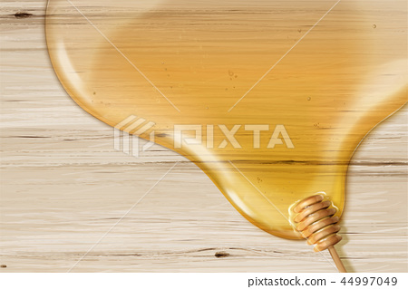 Honey syrup and dipper background 44997049