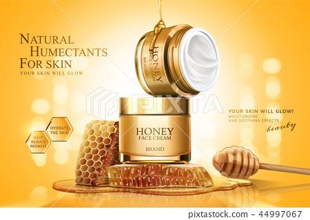 Honey cream jar ads 44997067