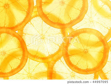 Sliced orange background 44997095