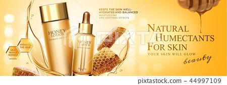 Natural honey skin care banner 44997109