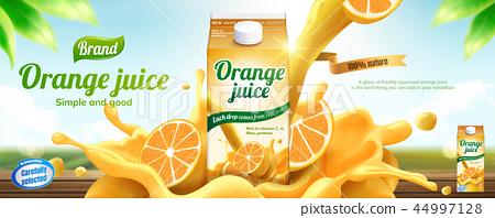 Orange juice drink banner ads 44997128
