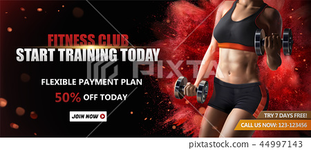 Fitness club banner ads 44997143