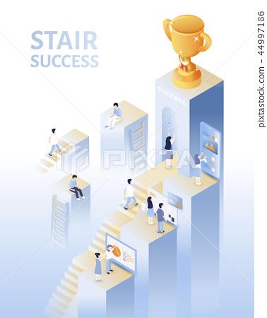 Isometric success concept 44997186