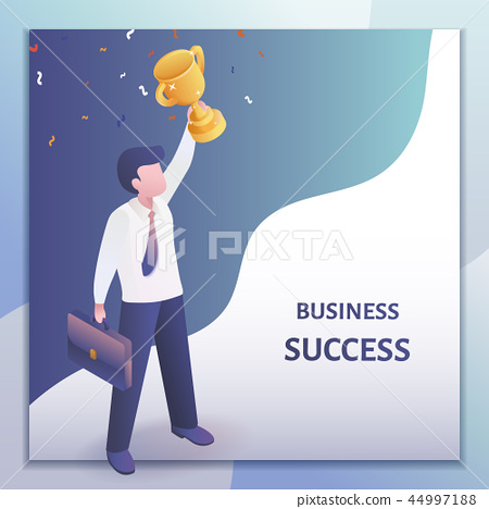 Isometric business success concept 44997188