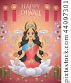 Happy Diwali design with Lakshmi 44997301