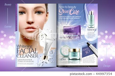 Elegant skin care brochure design 44997354