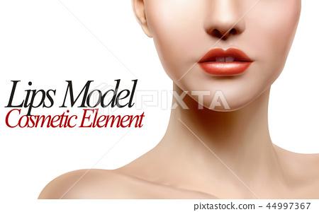 Lips model portrait 44997367