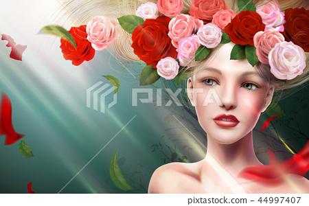 Graceful bridal model 44997407