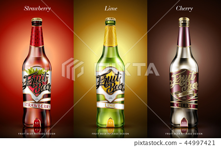 Fruit beer package design 44997421