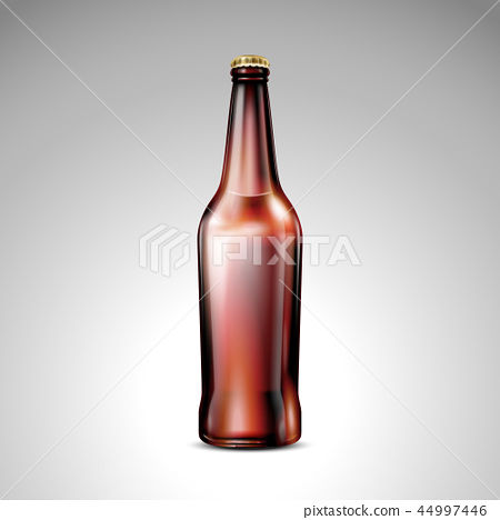 Isolated brown glass bottle 44997446