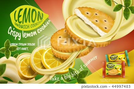 Lemon sandwich cookies ad 44997483