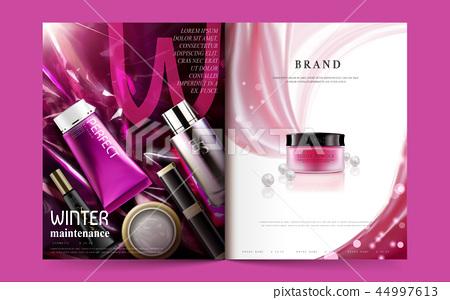 Cosmetic magazine template 44997613
