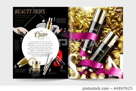 Cosmetic magazine template 44997625