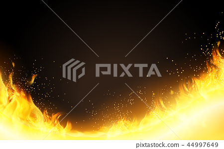 Realistic Burning Fire background 44997649