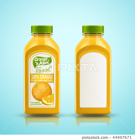 Orange juice bottle set 44997671