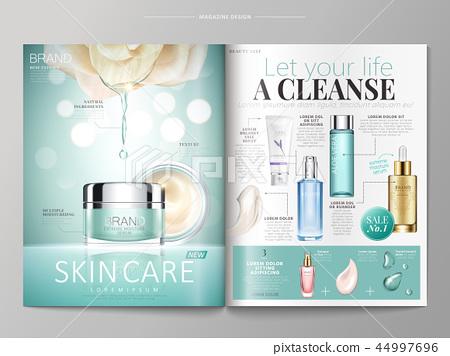 Skin care magazine template 44997696
