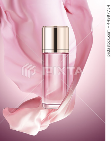 Pink cosmetic bottle mockup 44997734