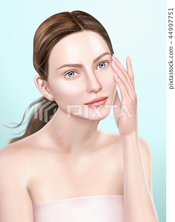 Elegant model portrait 44997751