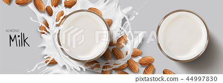 Almond milk design element 44997830