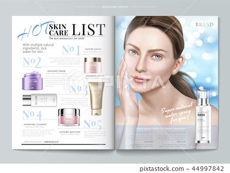 Elegant skin care magazine template 44997842
