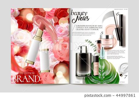 Cosmetic magazine template 44997861