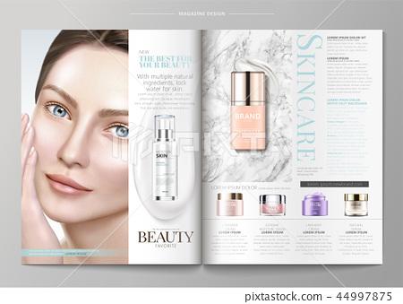 Elegant skin care magazine template 44997875