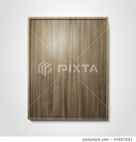 Wooden plate design element 44997881