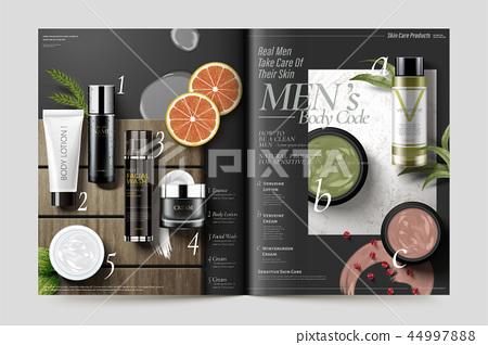 Cosmetic magazine template 44997888