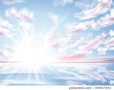 Bright sun shining in the sky 44997943