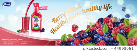 Natural berry blend juice 44998061